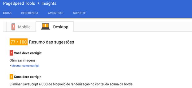 Como funciona o Google Pagespeed Insights