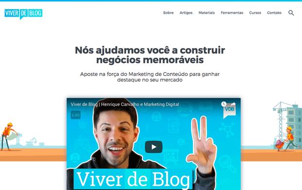 Sobre Viver de Blog