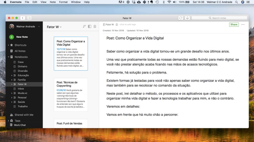 Como organizar a vida digital com Evernote